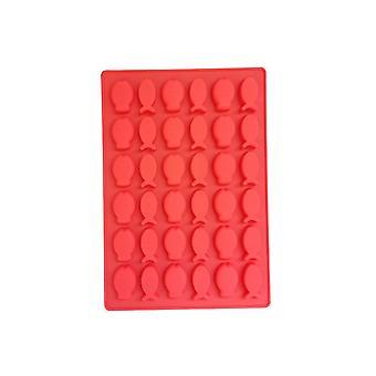 Red TRP Candy & Csokoládé formák Hal alakú penész konyhai eszközök gyerekeknek