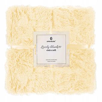 Blanket 220x240 cm - Plush - extra soft - yellow