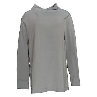 Cuddl Duds Women's Top Franse Terry Long Sleeve Soft Cowl Gray A310284