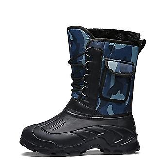 Winter Camouflage Snow/ Rain  Boots-shoes Waterproof With Fur Plush Warm Male