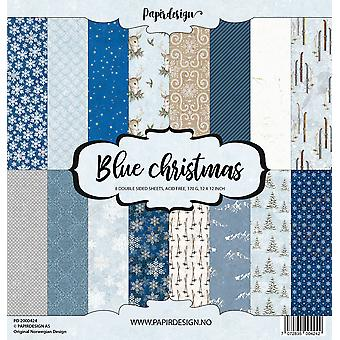 Papirdesign Blue Christmas 12x12 Inch Paper Pack