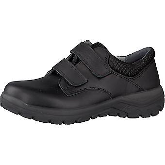 RICOSTA Double Velcro School Shoe Rugged Soled Sole Black