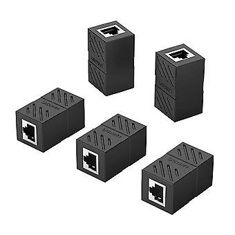 Ugreen cat7 cat6 cat5 rj45 8p8c 5 pack network keystone jack in-line coupler female to female (black
