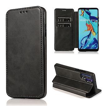 H-grunderna mobiltelefon fall för Huawei P30 Pro fall täcka – magnetiska lås, stå funktion och kort fack