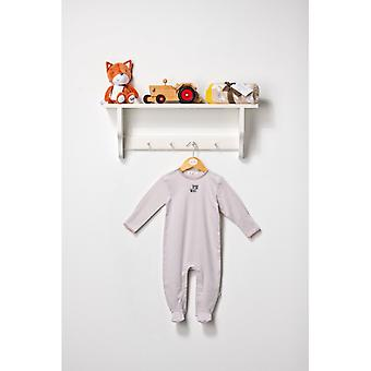 The Essential One Unisex Baby Sleepsuit In Khaki And White Stripe