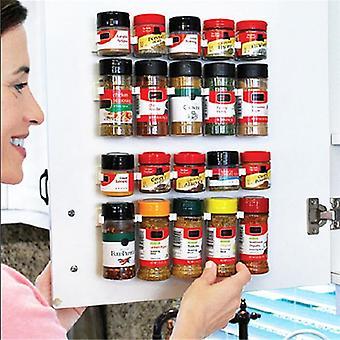 Spice Rack Organizer Wall Cabinet Door Hanging Jars Clip Hooks Set