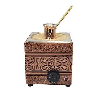 Engelse zandkoffie koperen brouwer machine met koperen pot