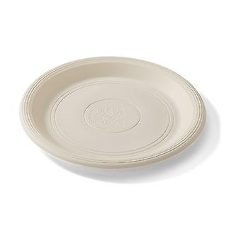 Large White Biodegradable Plates 20 units