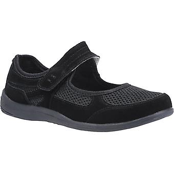 Fleet & Foster morgan leather womens ladies flats shoes black UK Size