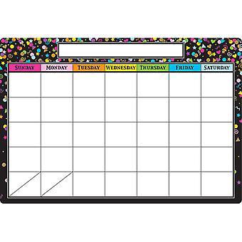 "Smart Poly Chart Calendario de Confeti Negro, 13"" X 19"""