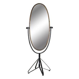 Fritstående spejl Dekodonia Black Golden Metal Vintage (66 x 57 x 163 cm)