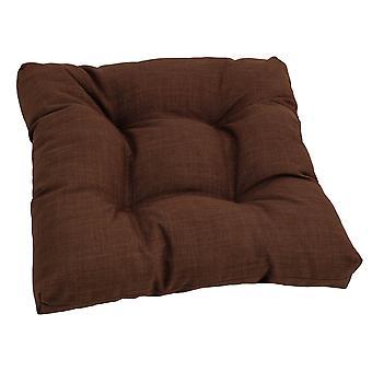 Coussin de chaise à manger touffu en polyester filé de 19 pouces - Cacao