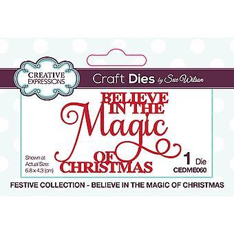 Expressões Criativas Natal - Coleção Festiva Cortando Morre - Acredite na Magia do Natal