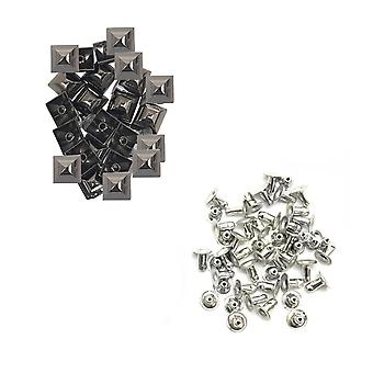15mm Pyramid Studs With Base Pins