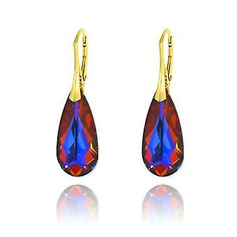 24K gold teardrop earrings