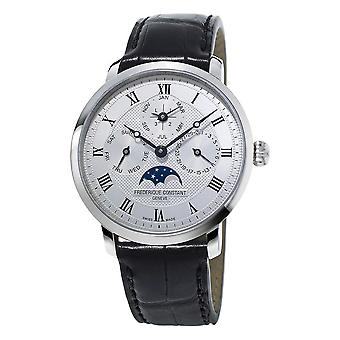 Frederique Constant Slimline Silver Dial Automatic Men's Perpetual Calendar Watch FC-775MC4S6