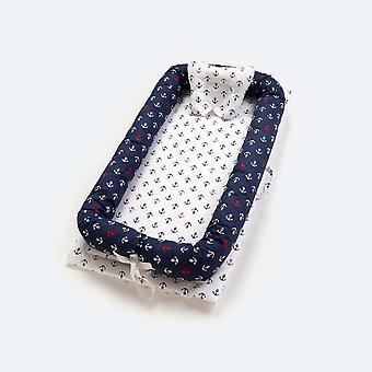 Impresión de cuna de viaje, cesta de cama portátil para bebés, colchón plegable,