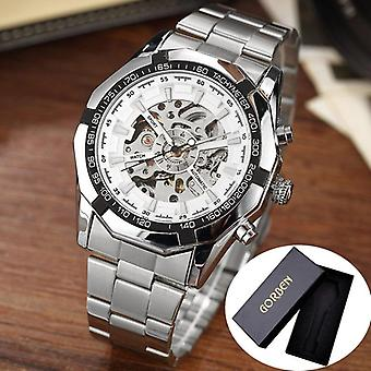 Skeleton Sports Automatic Stainless Steel Bracelet Chinese Mechanical Wrist
