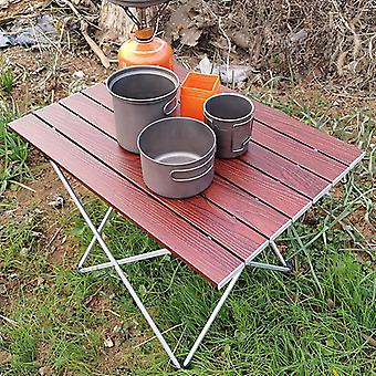 Folding, Camping Table, Portable Aluminum, Lightweight Durable, Compact Roll Up