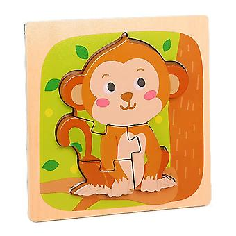 3D quebra-cabeças brinquedos crianças educação intelectual quebra-cabeça macaco macaco pt106