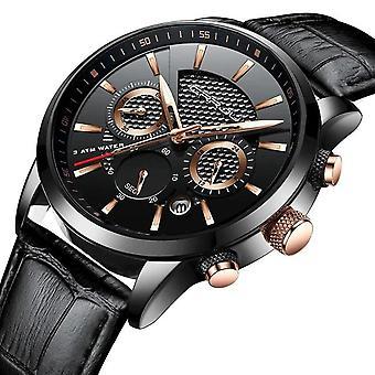 Luxury Waterproof Quartz Watches(BLACK3)