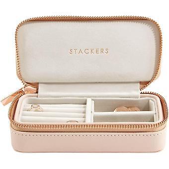 Gerui Blush Pink Medium Travel Jewellery Box