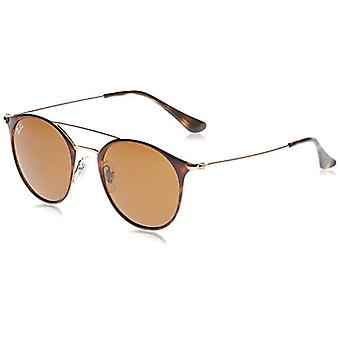 Ray-Ban Junior 0RB3546 9074 49 Sonnenbrille, Silber (Copper On Top Havanna/Brown), Unisex-Erwachsene