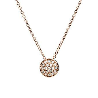 Eye Candy ECJ-NL0080 Women's Collier, Sterling 925 silver, with rose gold plating, round pendant with 20 Ref zircons. 4045425027825