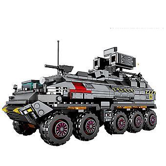 City Wandering Earth Carrier Bilbyggnad Blockerar teknisk militär tank last skåpbil transport lastbil tegelstenar pojkar leksaker