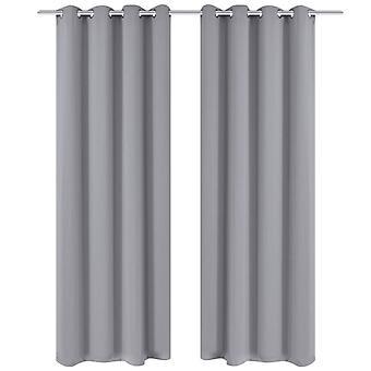 Cortina de apagón vidaXL con desprendimientos metálicos 270 x 245 cm gris