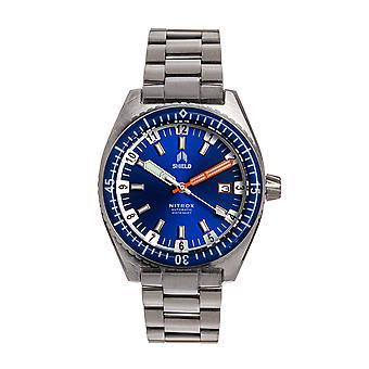 Shield Nitrox Bracelet Watch w/Date - Navy