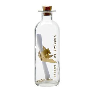 Glass melding flaske av himmelen sender