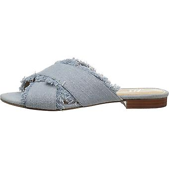 Brand - The Fix Women's Brystal Frayed Cross Strap Slide Dress Sandal
