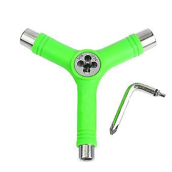 sähköinen skeittilaudan korjaus y-muototyökalu l-tyypin jakoavaimella (vihreä)