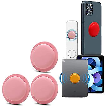 3 Pack Location Tracker Case Adhesive Protective Cover For Apple Airtag(Pink)