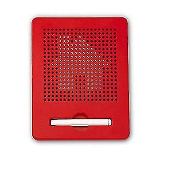 Numerical Letter Plastic Steel Ball Magnetic Drawing Board Children's Toy(Red)