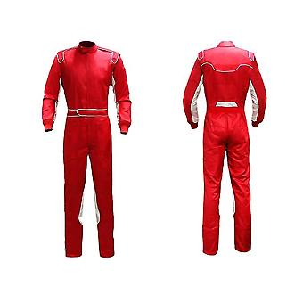 Kart racing streamlined suit in red sew01