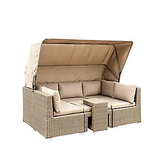 Patio Pe Rattan Wicker Sofa Sectional Daybed Furniture Set
