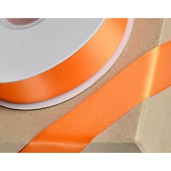 25m naranja 10mm cinta de satén ancho para artesanías