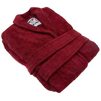 Bown of London Terry Towelling Dressing Gown - Burgundy