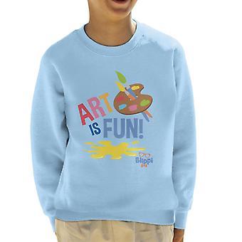 Blippi Art Is Fun Kid's Sweatshirt