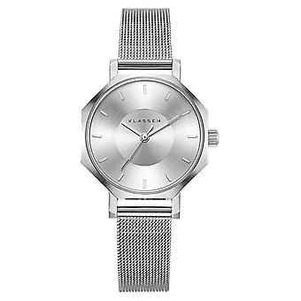Klasse14 Okto 28MM Silver Mesh Bracelet OK17SR001S Watch