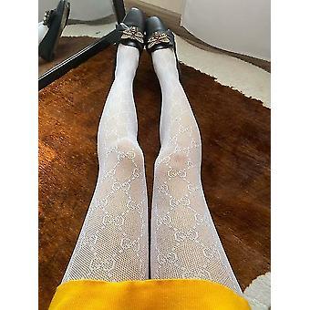 Hosiery flocking tights gauze transparent fish net womens stockings