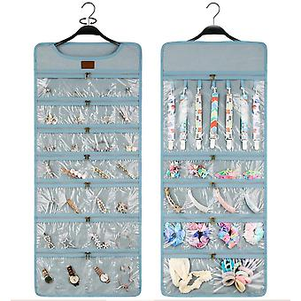 Glasses Jewelry Storage Bag Hanging Dustproof Organizer Bag Transparent Double sided
