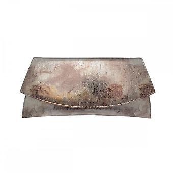 Renata Leather Envelope Clutch Hand Bag With Metallic Trim