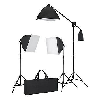 Belysning sæt: 3 studie lys på treparts - med softboxes