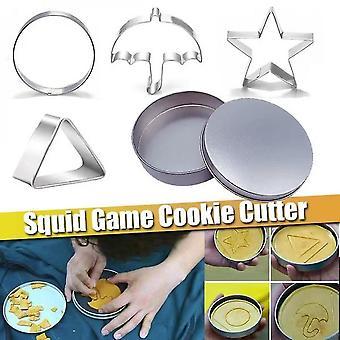 5pcs / sett blekksprut spill kjeks sukker pai, blekksprut spillet cookie godteri mold