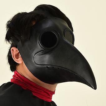 Venalisa Medieval Retro Plague Witch Doctor Crow Latex Steampunk Beak Mask