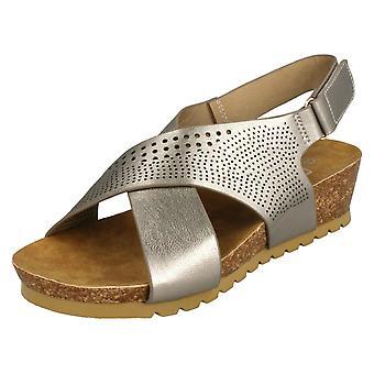 Ladies jordnära mitten av Wedge X bandet sandaler F10675