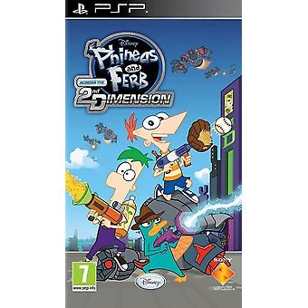 Phineas and Ferb Across the 2nd Dimension Sony PSP Game